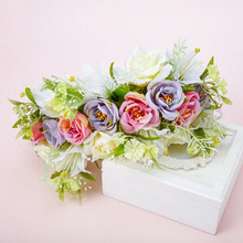 Korean bridal headdress flower handmade wedding hair accessories wedding accessories garlands sd059