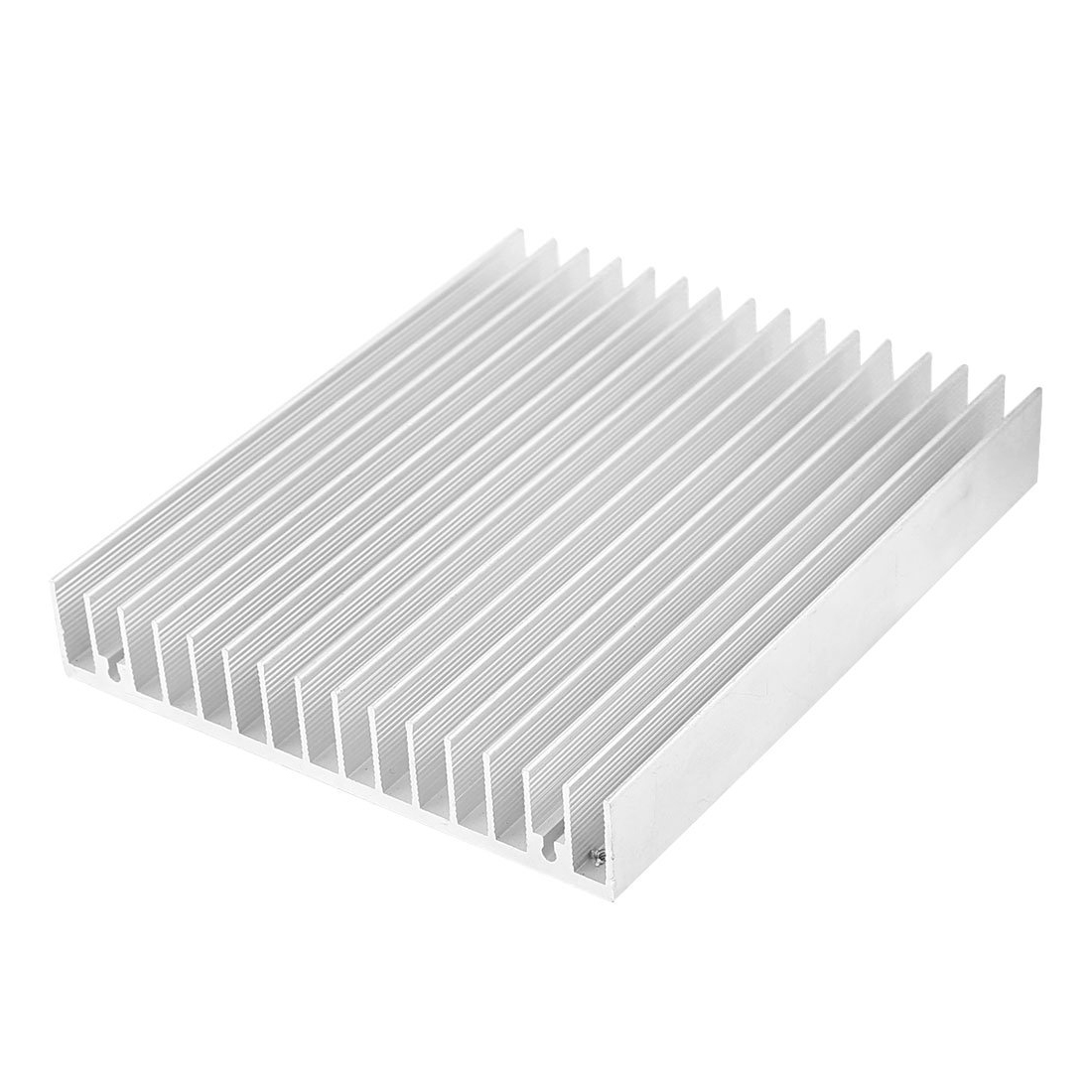Silver Tone Aluminium Heat Diffuse Heat Sink Cooling Fin 120x100x18mm 75 29 3 15 2mm pure copper radiator copper cooling fins copper fin can be diy longer heat sink radiactor fin coliing fin