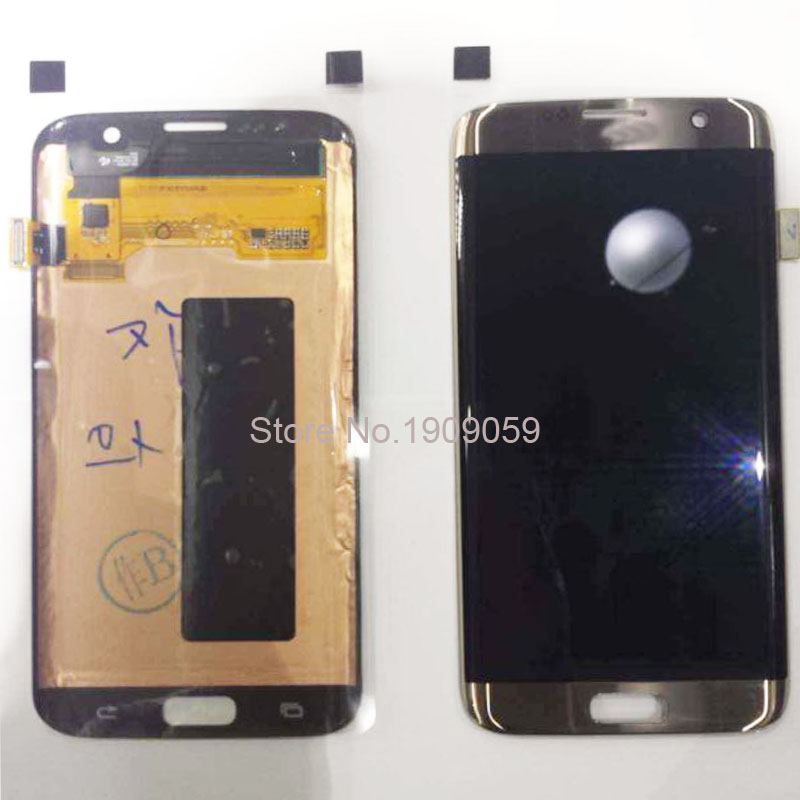 Wholesale 100% Warranty Original LCD For Samsung Galaxy S7 Edge LCD Display + Digitizer Touch Screen Gold