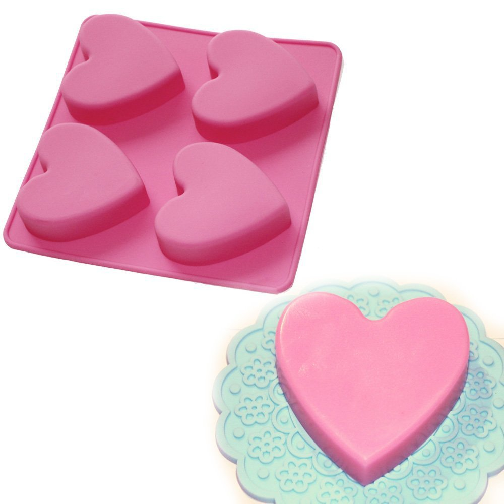 Soap Molds Silicone Mold Love Heart Shaped Cake Baked Chocolate Pudding Soap Mold High Quality Kitchen Baking Tools Diy Handmade Mold Kk034