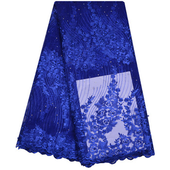 Embroidery Mesh Lace Fabric High Quality Women Dress Materials African French Net Lace Fabric 5 Yards