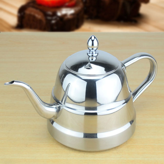 Sanqia New Style Stainless Steel Tea Pot With Strainer Teapot Infuser Kettle