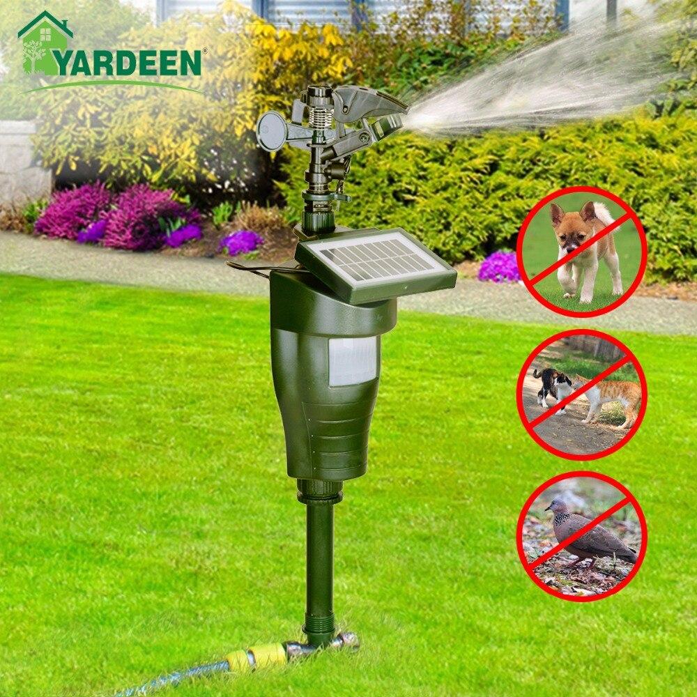Graden Eco friendly  Bird, Dog ,Cat  Repellent Rechargeable Scarecrow Jet Spray Animal Repeller with Solar Panel-in Repellents from Home & Garden    1