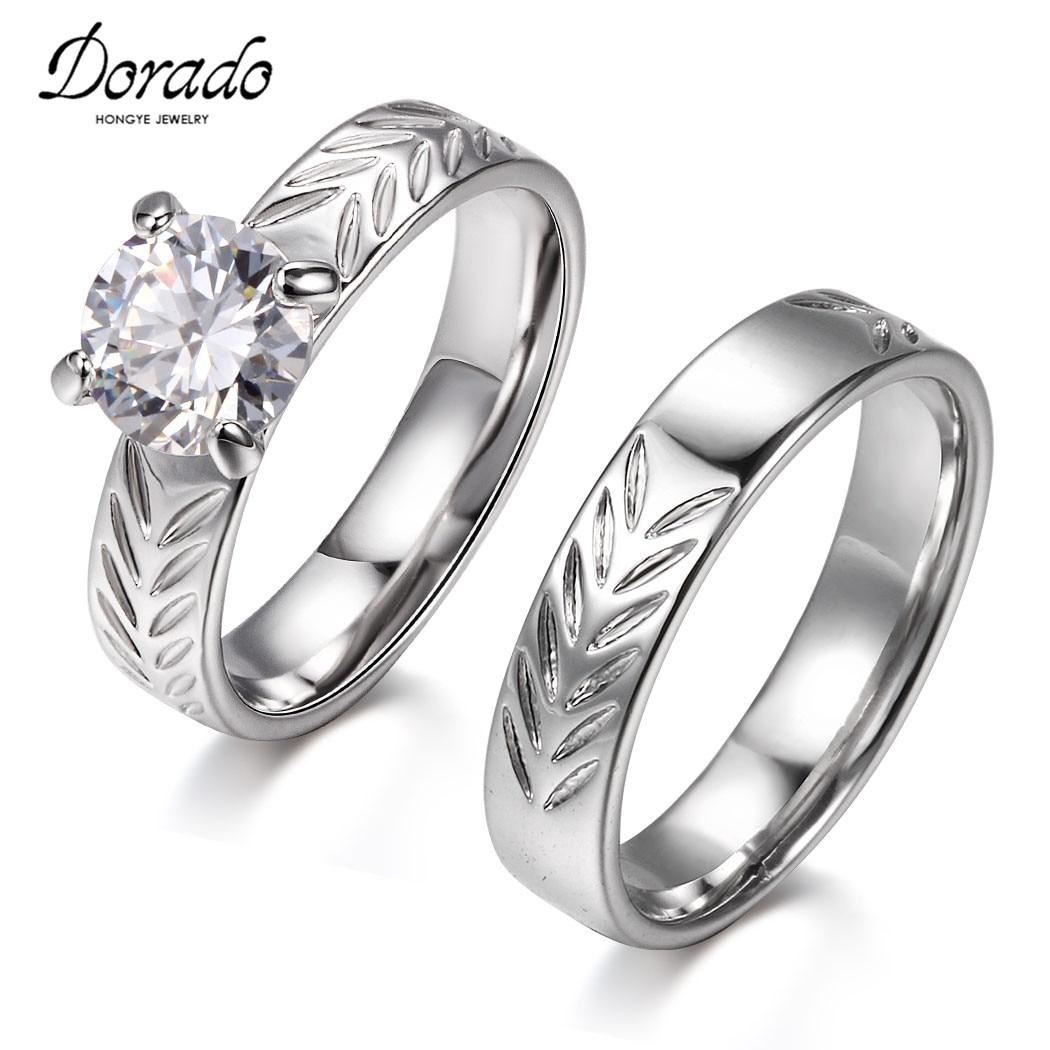 Leaf Wedding Ring Couple
