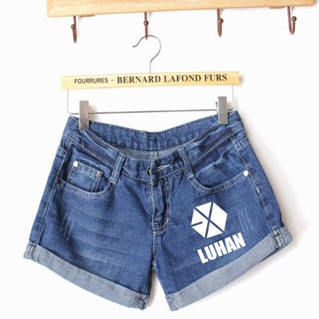 2016 New Arrival Sale Straight Low Waist Shorts K-pop Exo  Short Korean Cotton  Shorts Xoxo Exo-m Exo-k Sweat Sm
