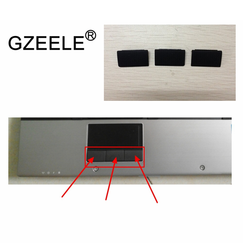 GZEELE laptop notebook L&R mouse buttons switch fit for <font><b>HP</b></font> Elitebook 8540 <font><b>8540P</b></font> 8540W notebook <font><b>keyboard</b></font> touchpad buttons key image