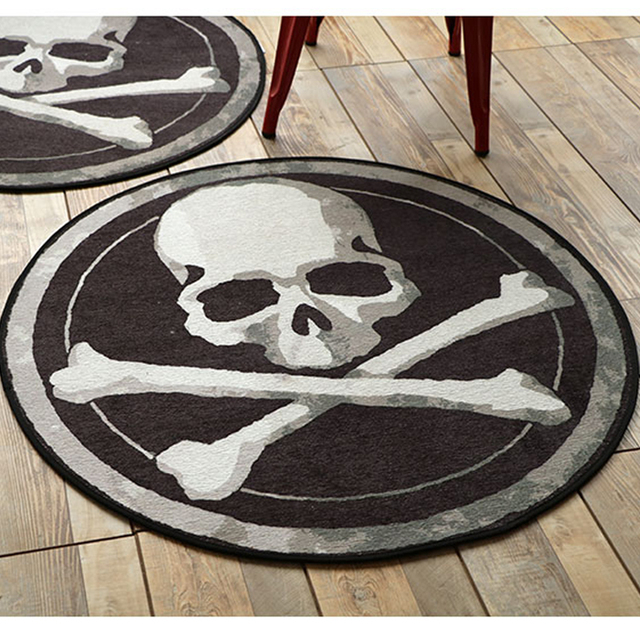 Black White Floor Rugs Mats Taro Round Carpets Hanging Baskets