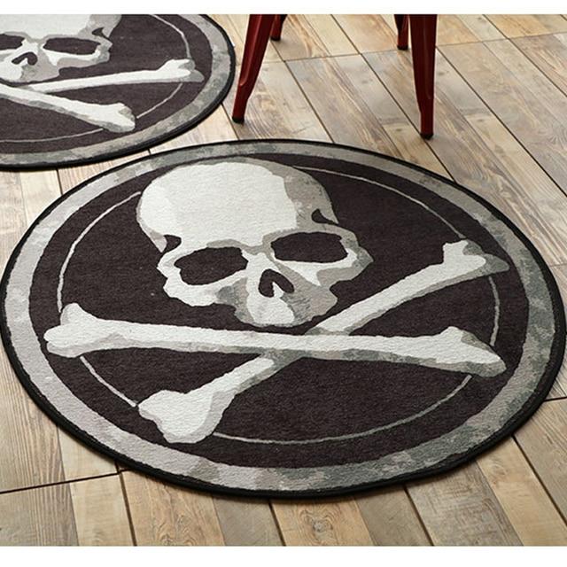 Black White Floor Rugs Mats Taro Round Carpets Hanging Baskets