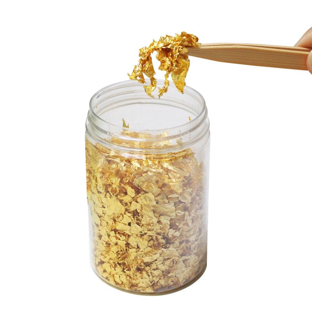 1g piezas pequeñas 24k hoja de oro comestible para decoración del hogar y máscara Facial envío gratis-in Figuras y miniaturas from Hogar y Mascotas    1