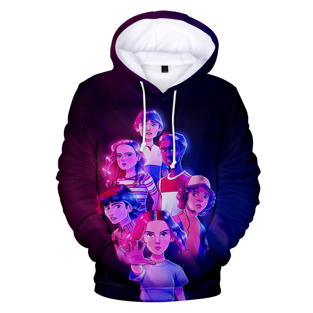 Hot Stranger Things 3 Hoodies In Mens Sweatshirts Boys/girls Harajuku Stranger Things Boy/Girls Autumn High Quality Cool Clothes