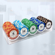 цена 100PCS Poker Chips Set with Box 14g Clay/Ceramic Poker Chips Sets Texas Hold'em EPT Pokerstars Poker Chips Casino Coins