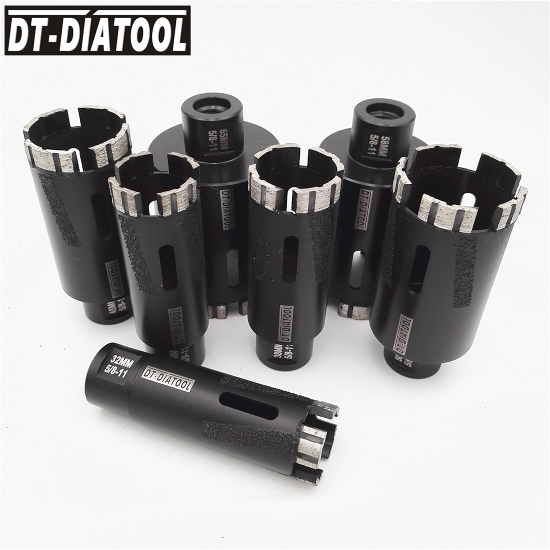 цена на DT-DIATOOL 1pc Laser Welded Diamond Dry Drilling Core Bits with 5/8-11 Connection Drill Bits For granite or Stone or Concrete