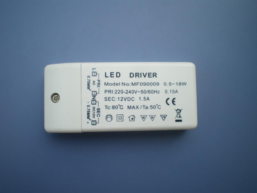 nový 20PCS / LOT napájení napájecího zdroje LED s konstantním napětím DC 12V 0,5w-18W + 3ks led stripl ight propagace nejnižší cena