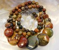 2015 hot sale Fashion high quality 6-20mm Multicolor Picasso Jasper Round & Coins Beads Necklace 17'' Wholesale and retail