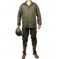 Nuevo Chaqueta y pantalones de uniforme WWII US USMC GREEN HBT US/501104 (sin casco, sin zapatos)