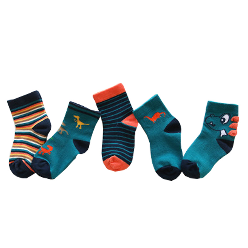 2019 New Autumn And Winter Cartoon Children's Socks Cotton Boys And Girls Socks Baby Socks 1-12 Year 5pairs Pack