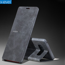 X-Level Extreme Thin PU Leather Flip Phone Case For Samsung Galaxy Note 8 8.0 Inch Stand Case Cover