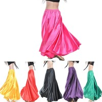 2015 Wholesale Chiffon Belly Dance Skirt For Women Cheap Belly Dancing Costume Gypsy Skirts On Sale