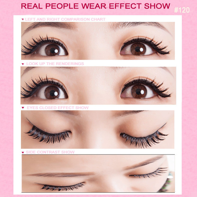 Sale 5 Pairs Natural Cross Makeup False Eyelashes Supernatural