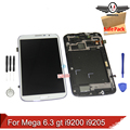 Para samsung galaxy mega 6.3 gt i9200 i9205 lcd screen display touch com digitador assembléia quadro + ferramentas