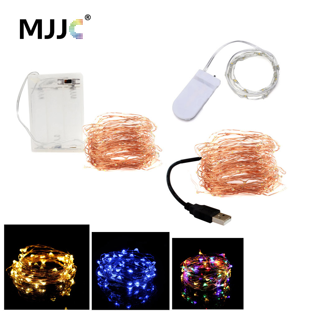 LED Fairy Lights Christmas Decoration Battery Operated 2M 20 String Copper USB LED String Timer Lamp For Marriage Party Wedding