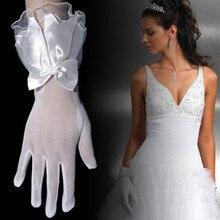 Одежда высшего качества Пряжа окрашенная запястье палец для вечеринок перчатки Мода молодых индивидуальный заказ Интимные аксессуары белые короткие Прихватки для мангала