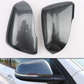 ABS Carbon fiber style Rearview mirror cover Car accessories For BMW X1 F48 2015 2016 20i 25i 25le