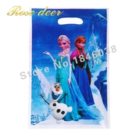 500pcs Lot Snow Queen Theme Party Gift Bag Party Decoration Plastic Candy Bag Loot Bag For