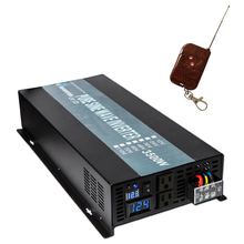 3500W 24v 220v Pure Sine Wave Solar Power Inverter car inverter DC to AC voltage Converter for home power supply remote control peak full power 2500w solar inverter pure sine wave inverter car power inverter 12v 24v to 120v 220v dc to ac voltage converter