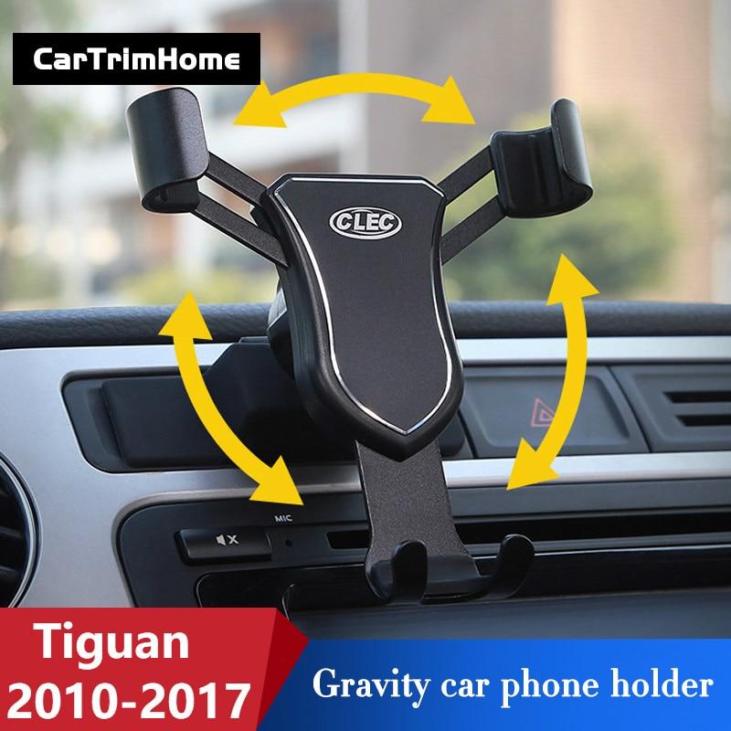 2010-2017 Tiguan Accessories For Volkswagen Tiguan Phone Holder Rotational Smartphone Holder Air Vent Car Mount Holder