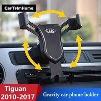 2010 2017 Tiguan Zubehör Für Volkswagen Tiguan Telefon Halter Dreh Smartphone Halter Air Vent Auto Halterung-in Anti-Rutsch-Matte aus Kraftfahrzeuge und Motorräder bei