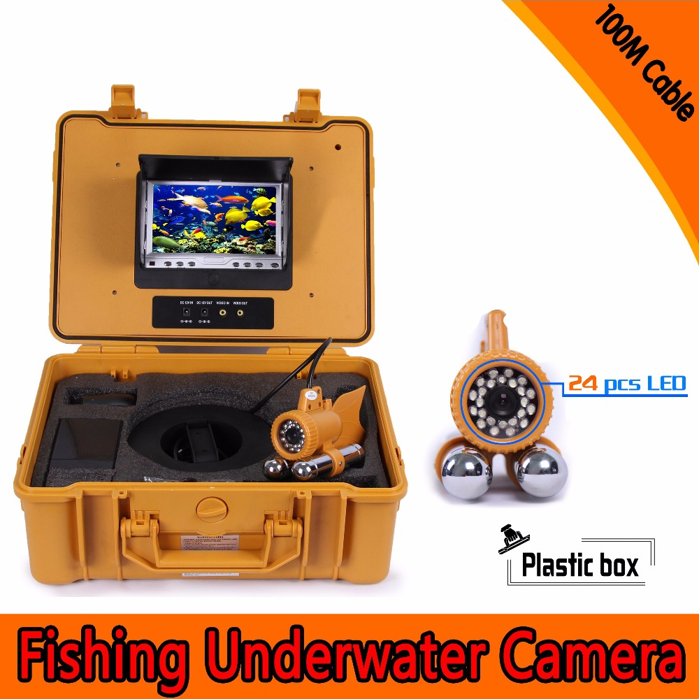 (1 Set) 100M Cable 7 inch Color Screen HD700TVL CMOS Lens Fish finder Inspection Camera Underwater Fishing camera dual-pandent