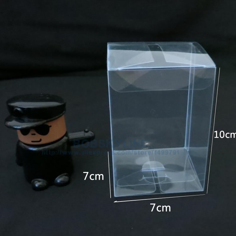 7 7 10 см прозрачный ПВХ пластиковые окна Игрушечные лошадки Куклы Дисплей  Box Главная пылезащитный чехол Конфеты подарочная коробка 14e12b62f8c