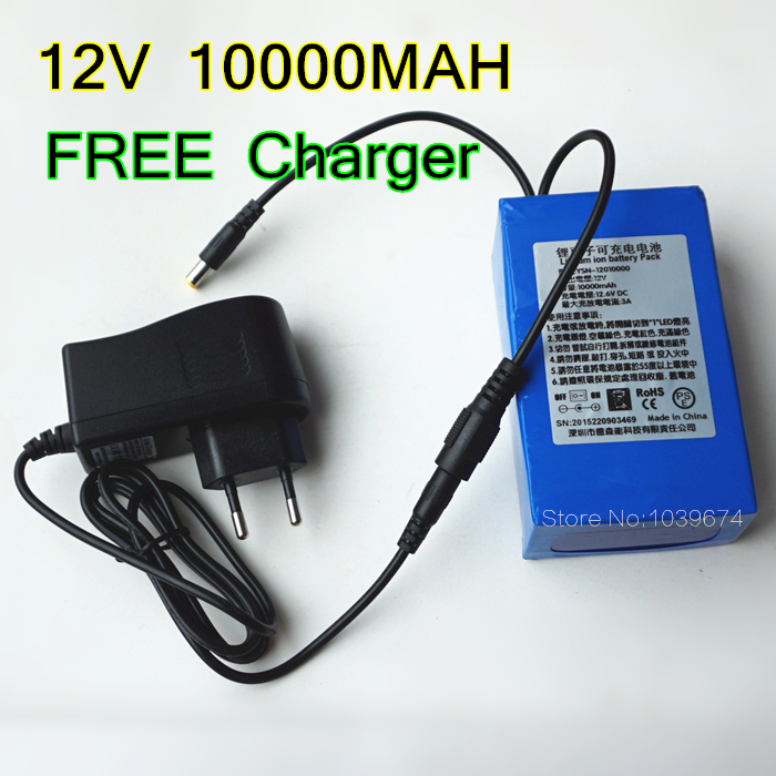 Free Charger For High Capacity 12v 10000mah Lipo