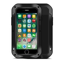 Love mei耐衝撃ケース用iphone 7強力な防水アーマーケースiphone用7プラスハードケースカバtoughedガラス