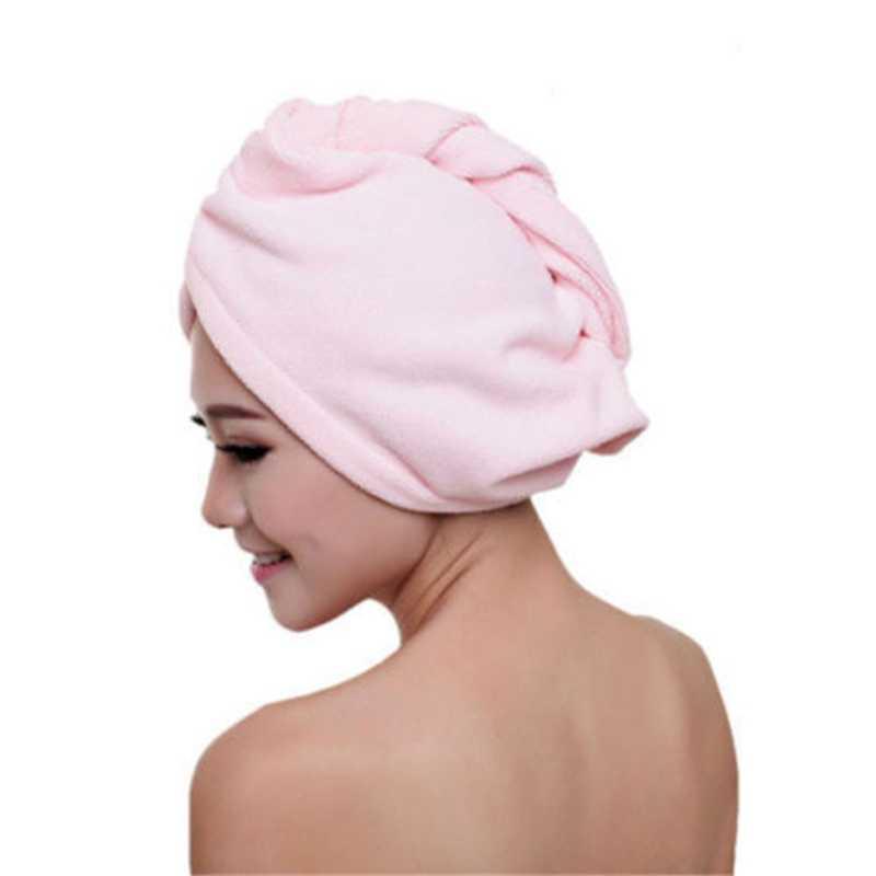 乾燥した髪帽子タオルラップターバンヘッド帽子パンキャップシャワードライマイクロファイバー