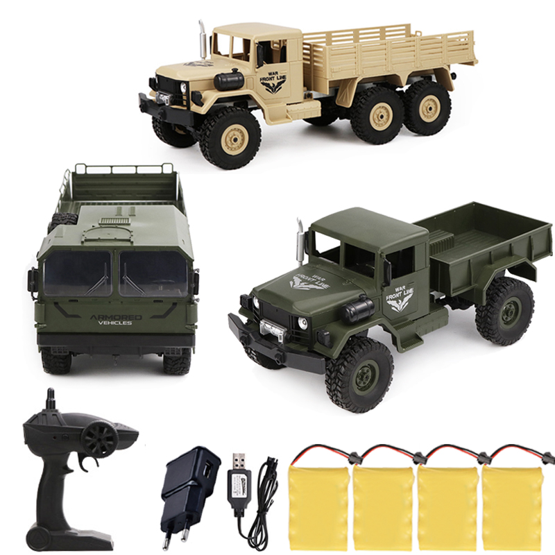 JJRC Q62 Q63 Q64 1/16 2.4G 4WD Long Battery Life Off-Road Military Trunk Crawler RC Car Remote Control Off-Road Toys Kids Gifts