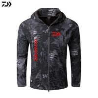 Jacket Crepe Fishing Clothing For Men Autumn Winter Waterproof Keep Warm Fishing Clothes Camouflage Hooded Fishing Jacket