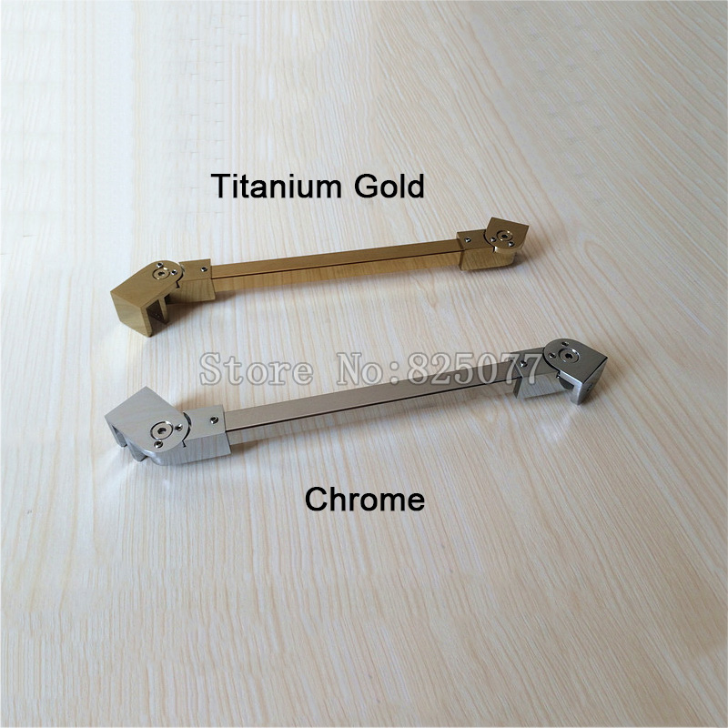 Titanium Gold/Chrome Shower Room Supporting Bar Bathroom Glass Holding Clamp Stainless Steel,Angle adjustable 1000mm JF1211