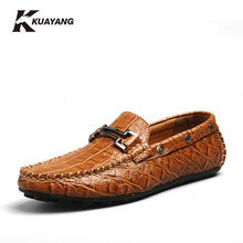 Hot Sales Medium(b,m) Man Moccasin Breathable 2016 Men's Loafers Designer Shoe Male Genuine Fashion Boat Shoes Luxury Brand