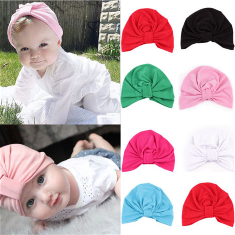 Newborn Toddler Kids Baby Boy Girl Indian Turban Knot Cotton Beanie Hat Cap