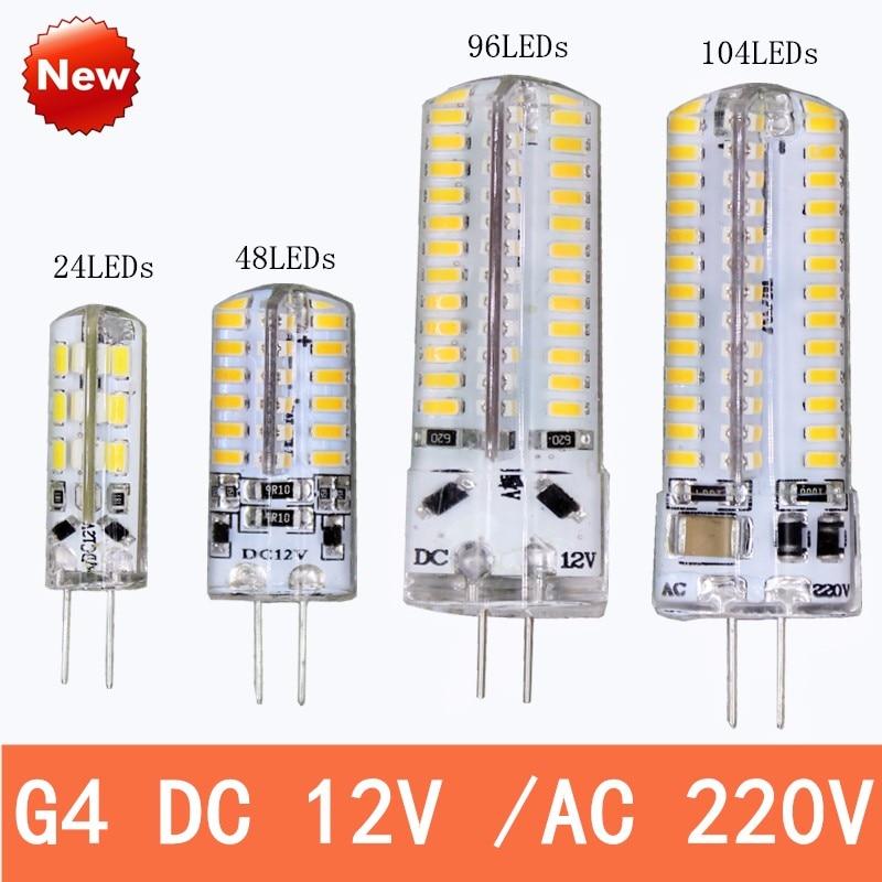 Hot G4 LED lamp DC12V 24 48 96 104 Instead of 20W-30w halogen lamp 360 degree saving light Crystal lamp bulb free shipping jcd 100v 650w cl projection halogen lamp 100v650w enlarger photo photographic bulb free shipping