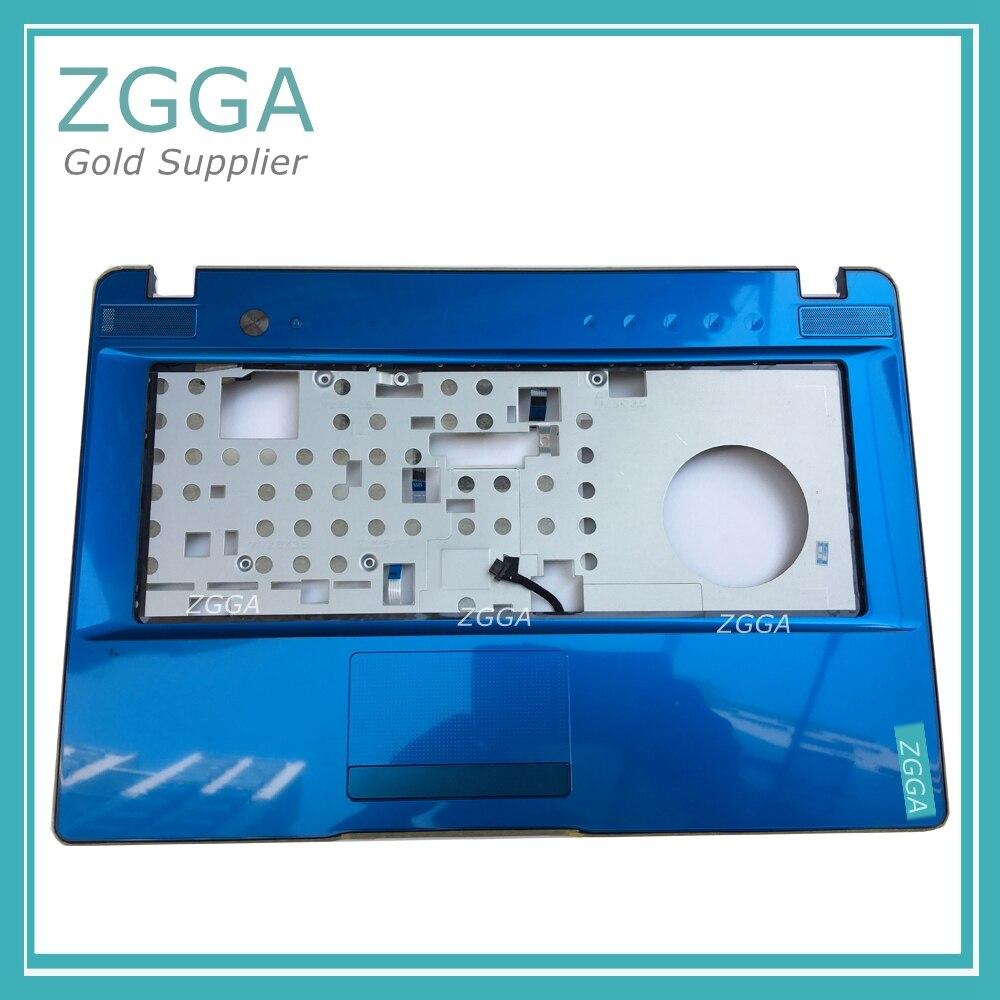 лучшая цена Genuine New Original For Lenovo Ideapad Laptop Z470 Z475 Palmrest Keyboard Bezel Case Cover Blue 33KL6TCLV30 31049436