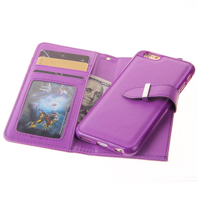 XINGDUO Magnet blixtlås läder plånbok avtagbar - Reservdelar och tillbehör för mobiltelefoner - Foto 4