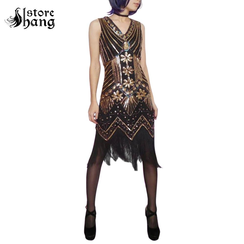 great gatsby dress women's 1920s flapper dress fringe