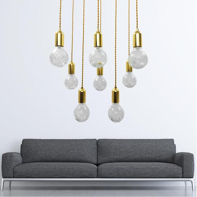 Modern wire cable simple diy g9 led 110v220v glass pendant lights modern wire cable simple diy g9 led 110v220v glass pendant lights lamps gold color aloadofball Image collections