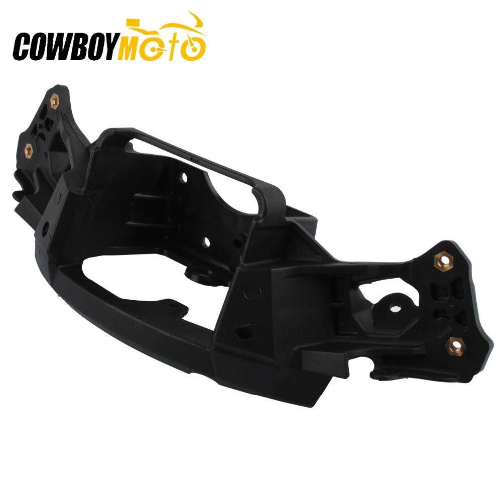 Motorcycle Black Upper Front Stay Cowl Headlight Fairing Bracket For Kawasaki Ninja ZX10R ZX 10R ZX