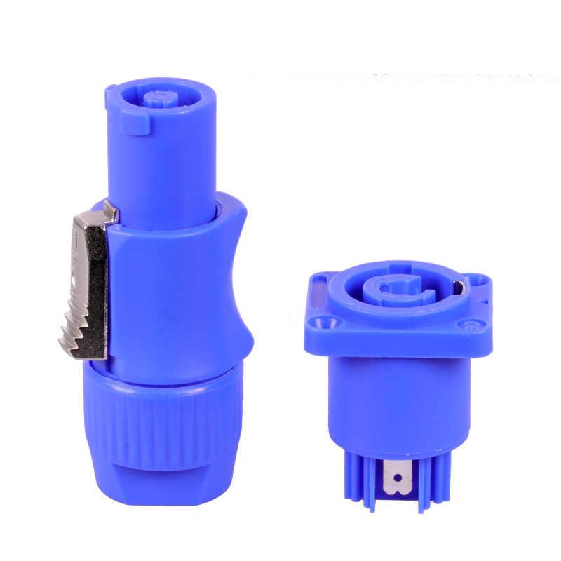 1pc męskie i żeńskie, para, PowerCON typ A NAC3FCA + NAC3MPA-1 podwozie wtyczka panelowa adapter 3 pinowe Powercon złącze głośnika