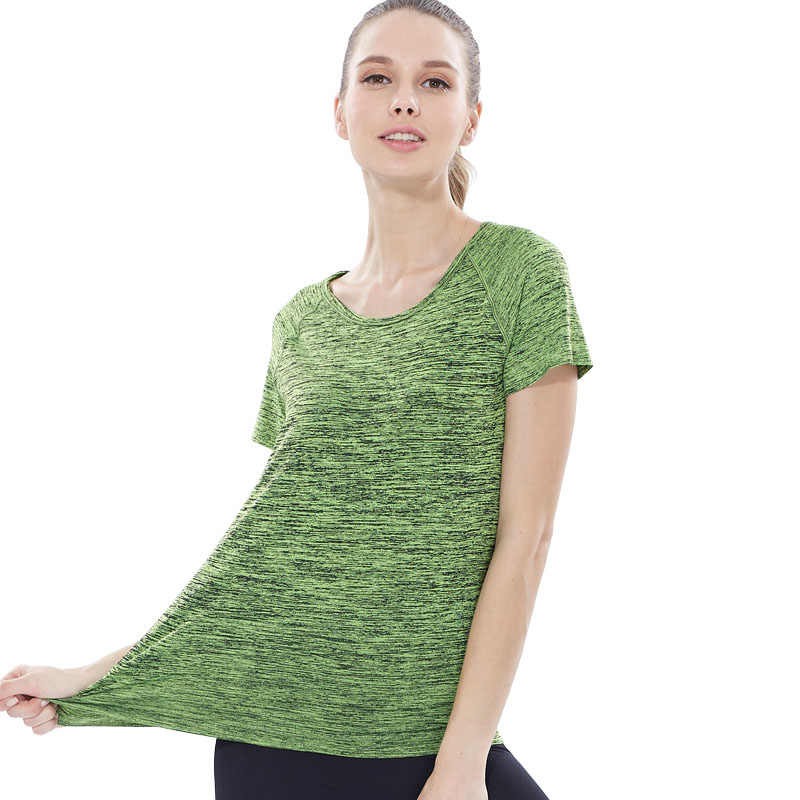 VEQKING المرأة سريعة الجافة قميص رياضي ، المهنية قصيرة الأكمام تنفس تمارين اليوغا بلوزة تي شيرت لصالة الألعاب الرياضية تشغيل اللياقة البدنية