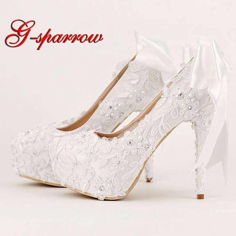 Sexy Black Lace Formal Dress Shoes Bride Party Prom High Heels Platform Glitter Stiletto Heel Wedding Party Shoes Women Pumps